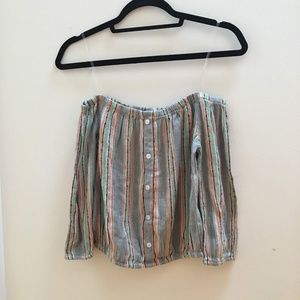 Charlotte Russe Off-The-Shoulder Shirt
